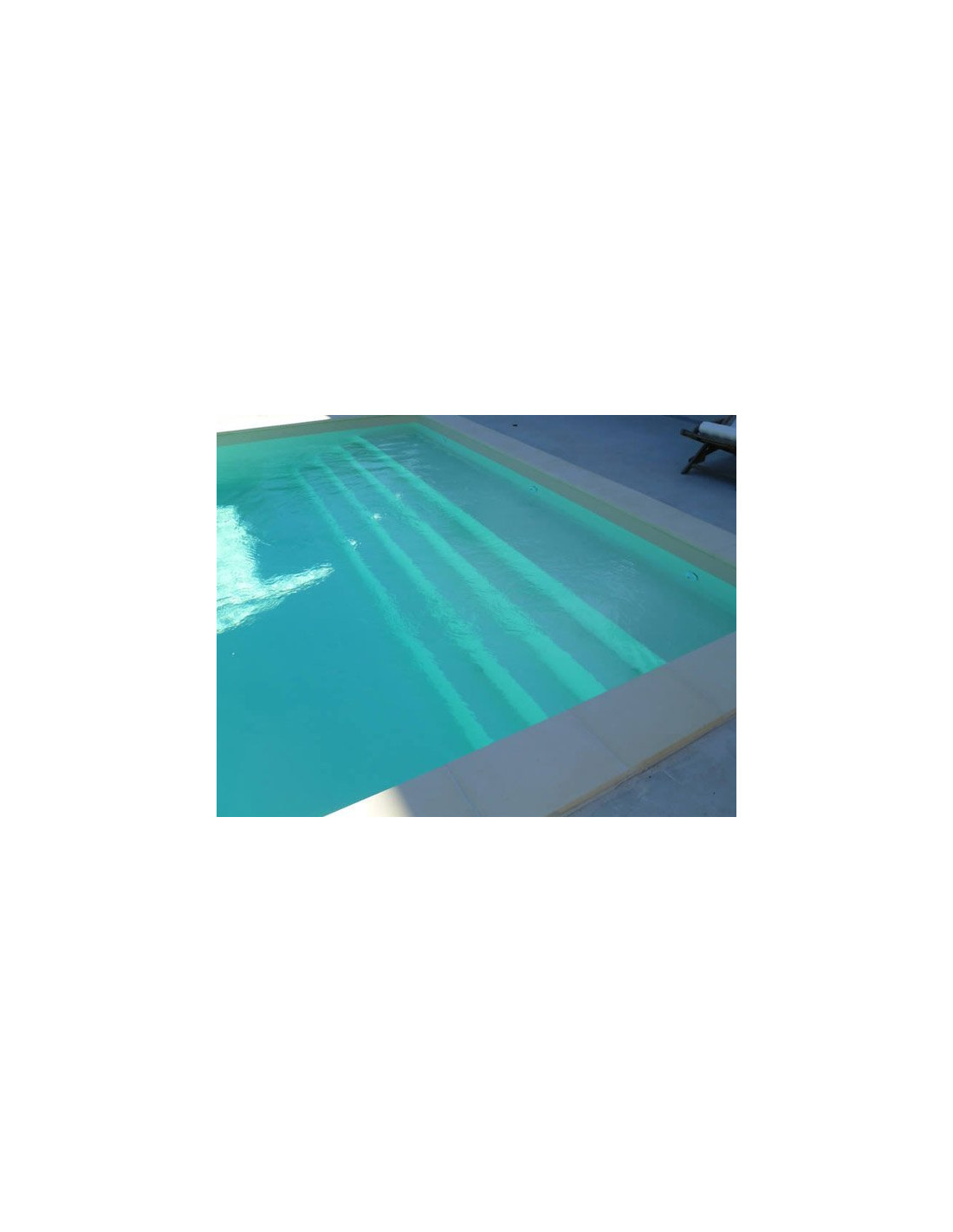 Kit piscine enterr e avec escalier modulo for Piscine en kit rectangulaire