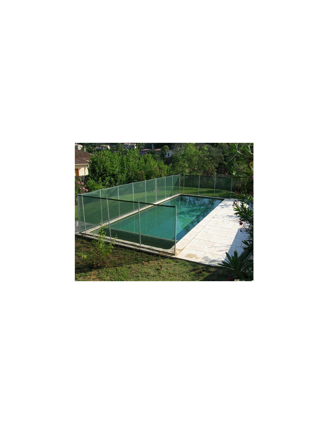 Barri re de piscine beethoven verte avec piquets anodis s for Barrieres piscine beethoven