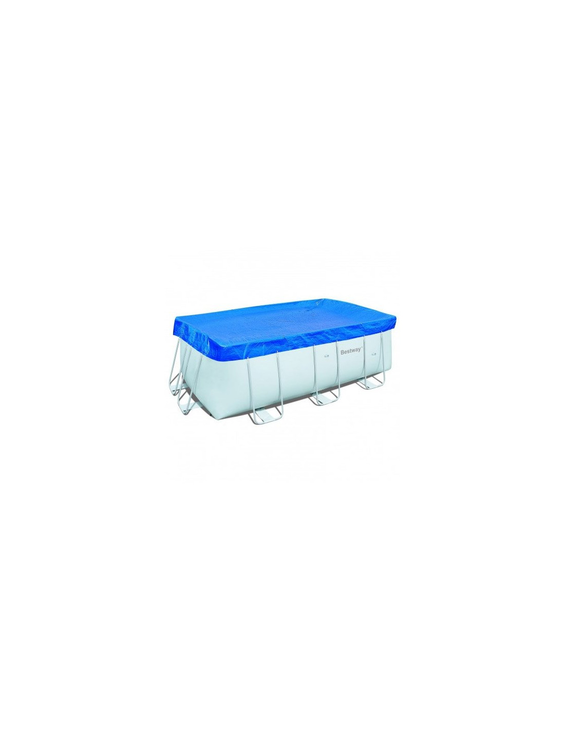 Bache hiver bestway piscine tubulaire home piscine for Piscine rectangulaire bestway