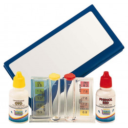 Trousse d'analyse piscine  chlore et ph liquide
