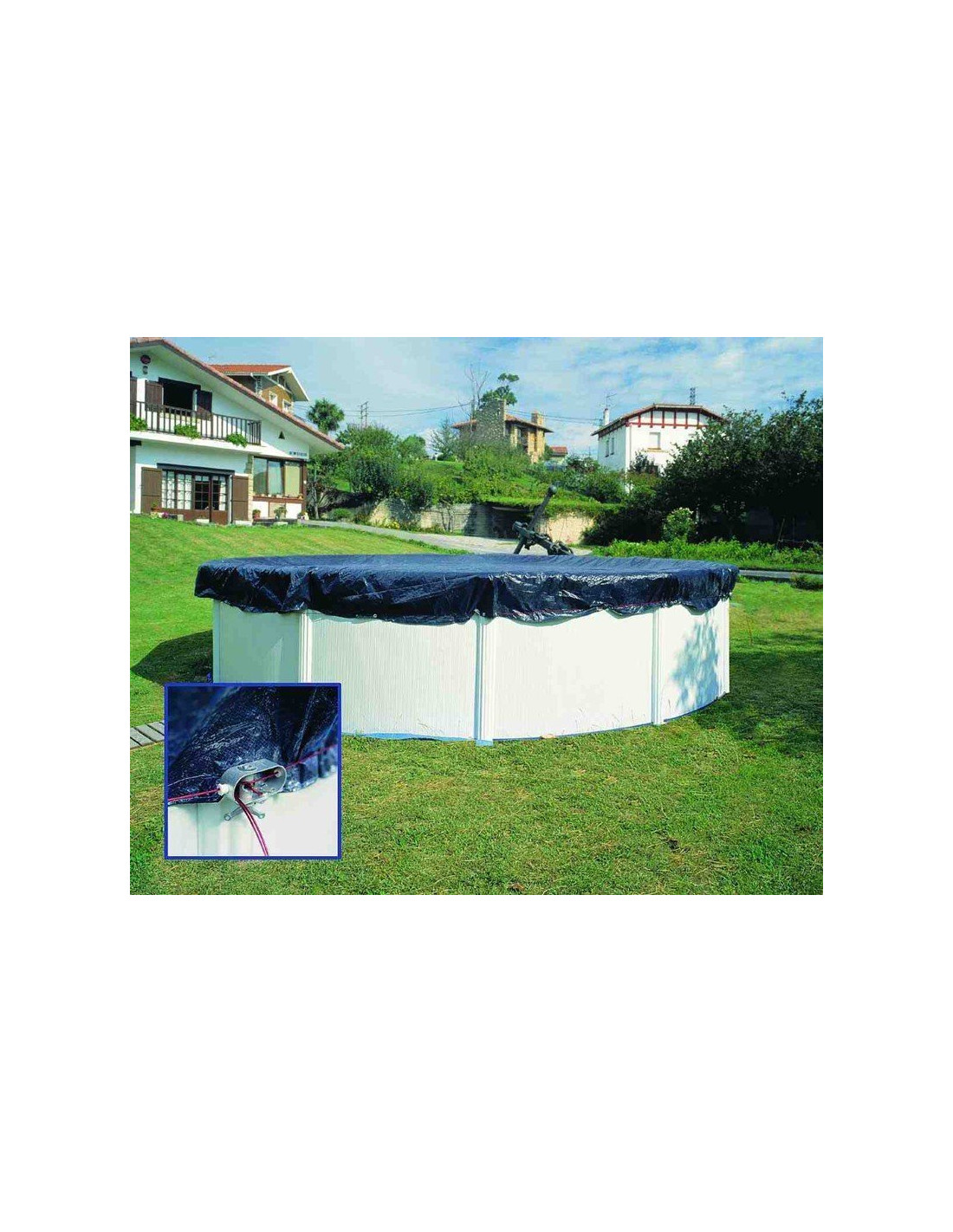 B che hivernage piscine hors sol ronde gre pool home piscine for Baches piscine hors sol
