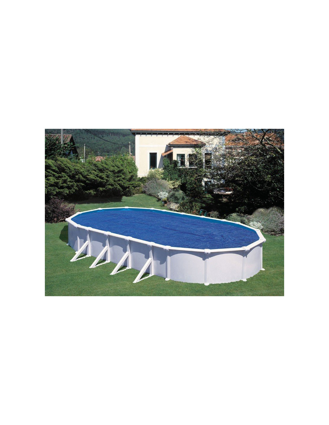Bache piscine hors sol ovale gre pool bache bulles solaire for Piscine gonflable ovale