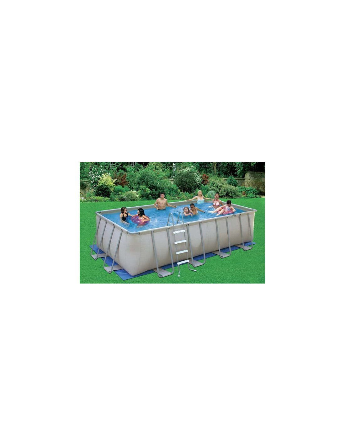 Piscine tubulaire rectangulaire garden leisure 5 48 x 2 for Skimmer piscine tubulaire hors sol
