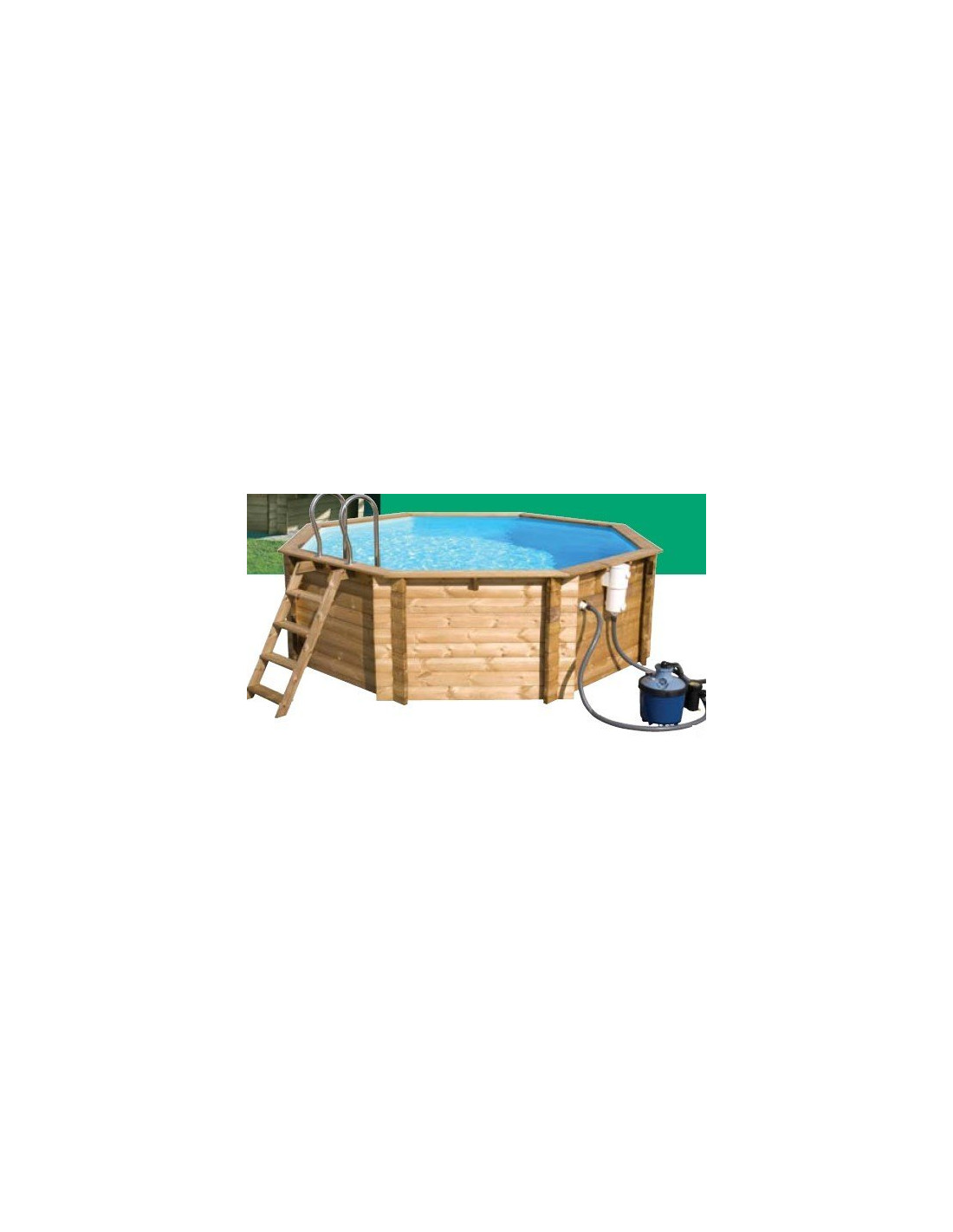 Piscine en bois tropic x m for Piscine hors sol 360 x 120
