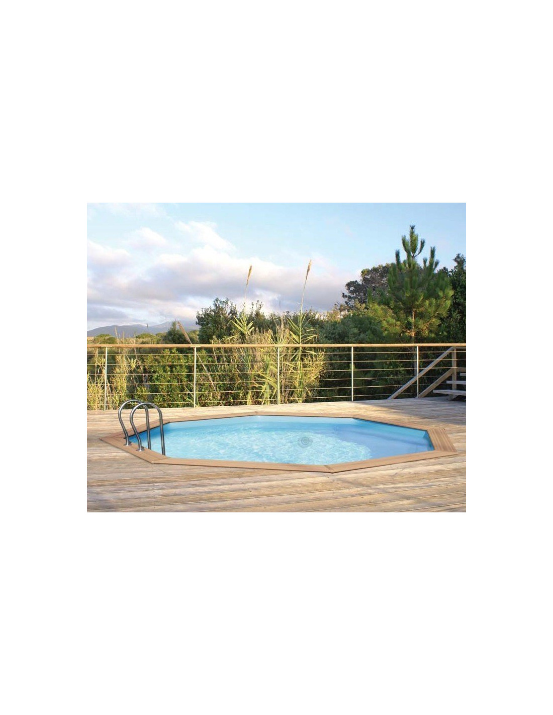 Piscine weva bois 5 28m x 1 33m home piscine for Piscine weva