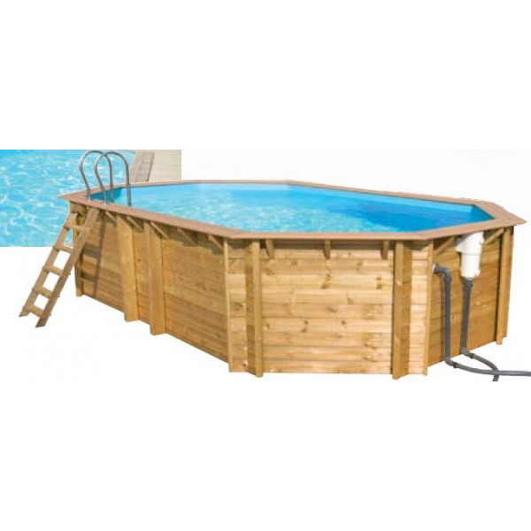 piscine octogonale en bois tropic octo x x On piscine hors sol kit bois