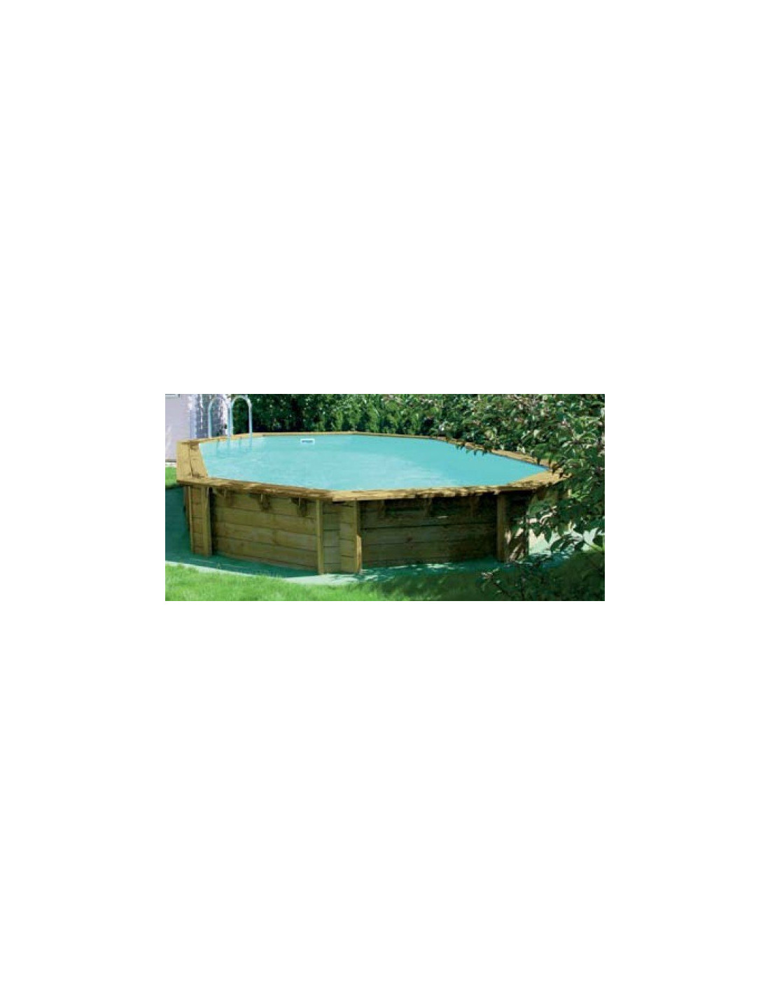 piscine weva octo 6 40m x 4 04m x 1 46m home piscine On piscine hors sol kit bois