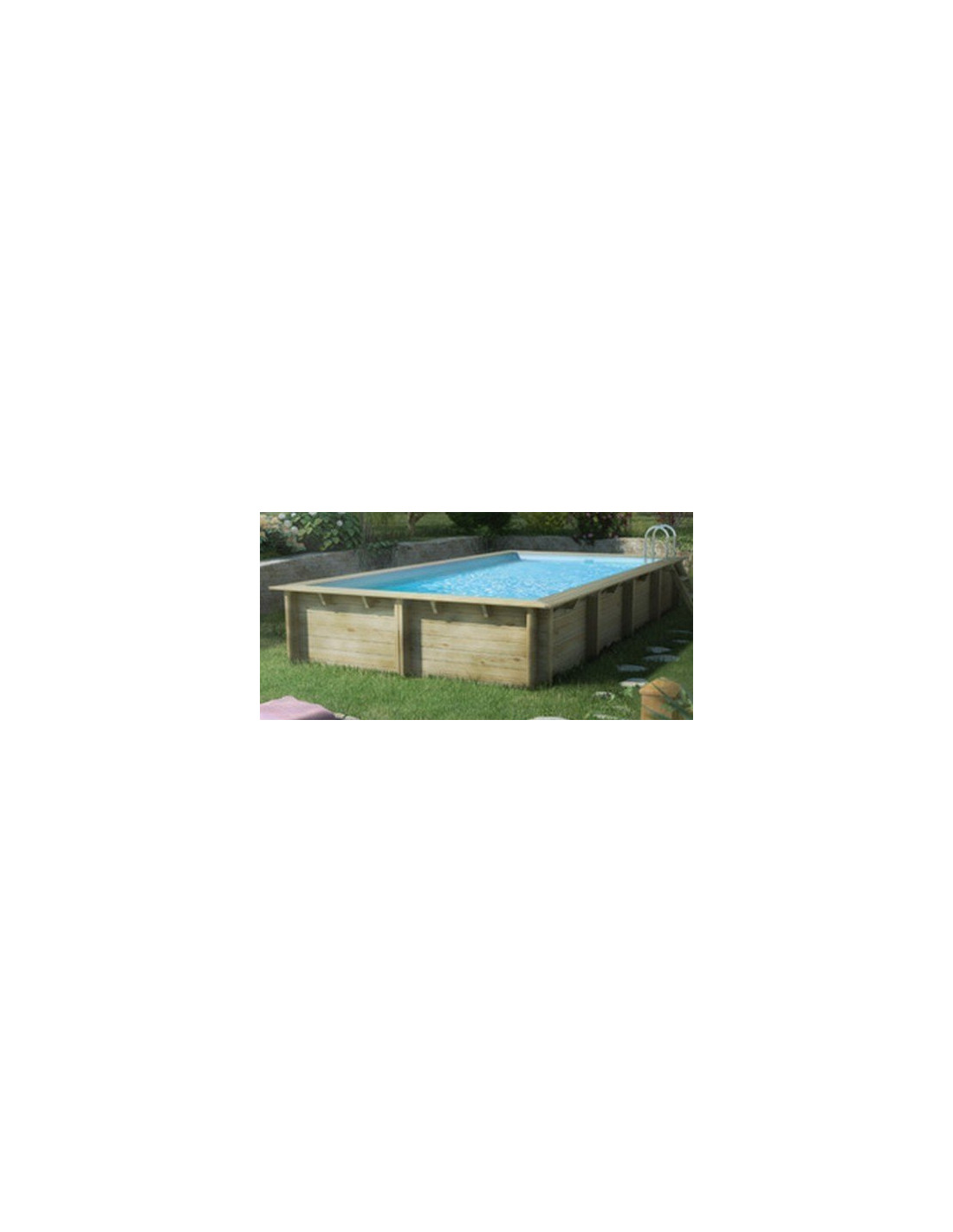 Piscine rectangulaire w va en bois x x m for Piscine weva