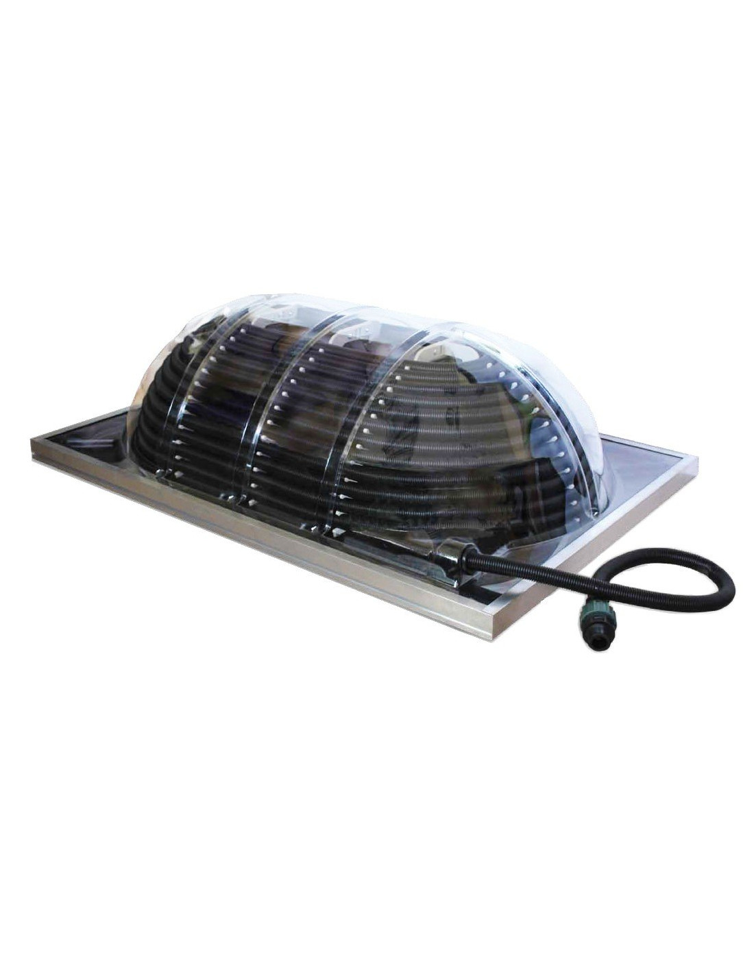 Dome solaire piscine hors sol 20 m3 for Piscine hors sol chauffage solaire