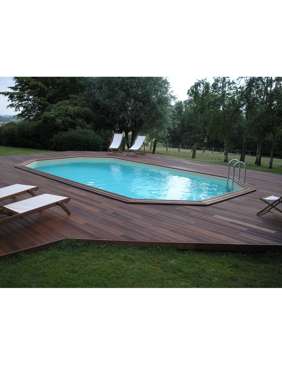 Promo piscine bois octogonale for Promo piscine bois octogonale
