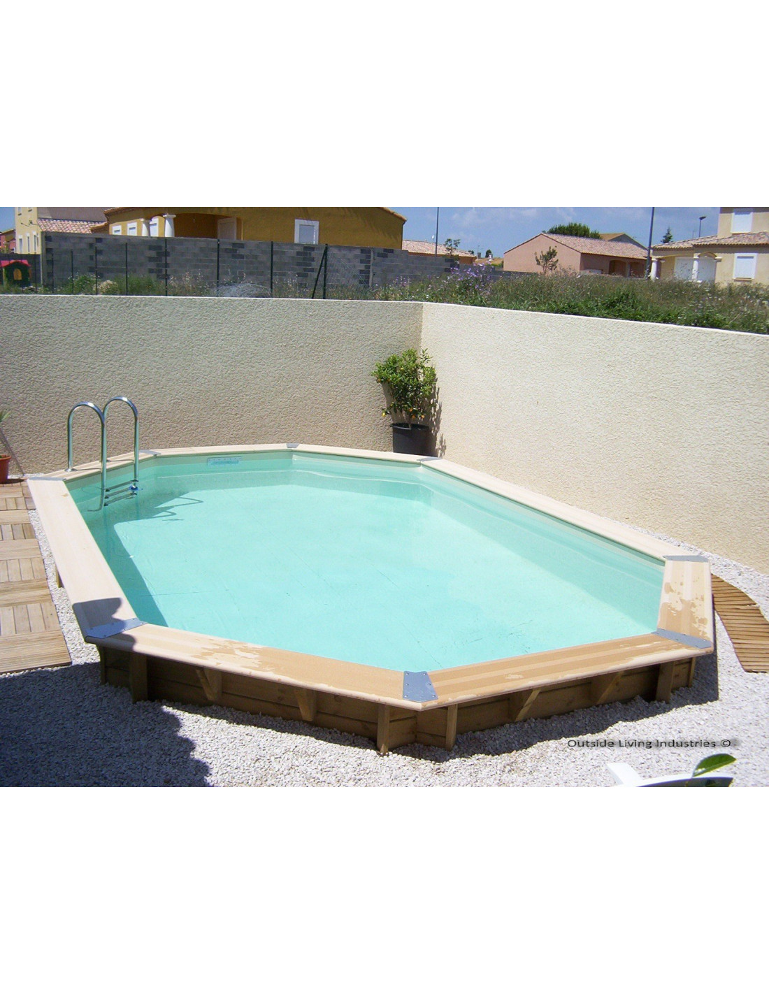 Promo piscine bois octogonale for Promo piscine bois