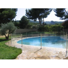 Barri re de piscine oceanix en verre et inox 2m for Barriere de piscine en verre