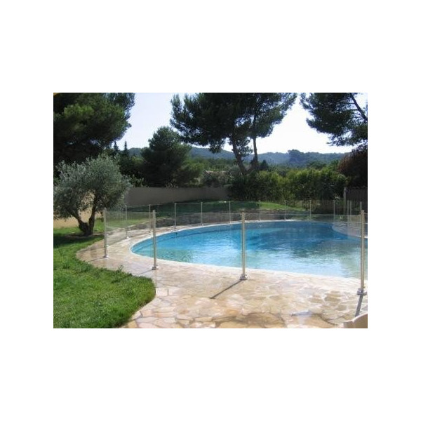 Barri re de piscine en verre et inox oceanix 1m ebay for Barriere piscine verre inox