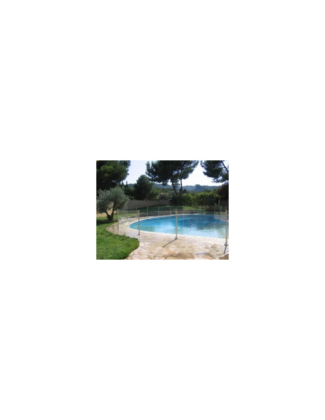 Barri re de piscine en verre et inox oceanix 1m for Barriere piscine verre inox