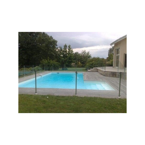 Barri re piscine oceanix en verre et inox for Piscine barriere