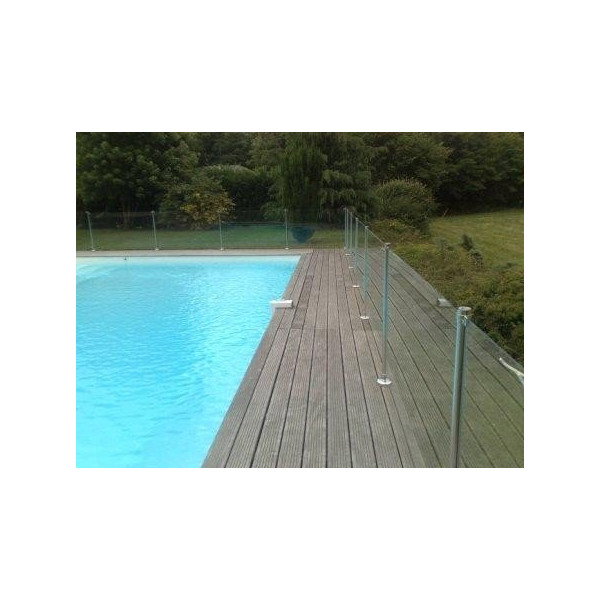 Barri re de piscine oceanix en verre et inox 2m for Barriere piscine verre inox