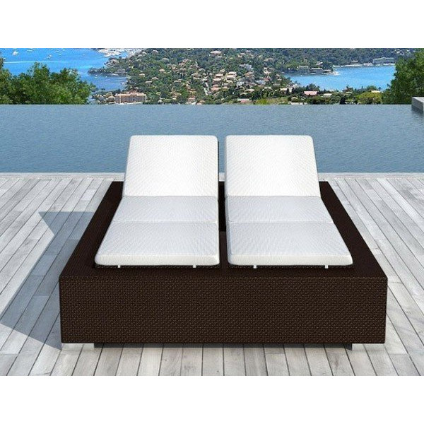 bain de soleil double pas cher en r sine tress e 2 places delorm. Black Bedroom Furniture Sets. Home Design Ideas