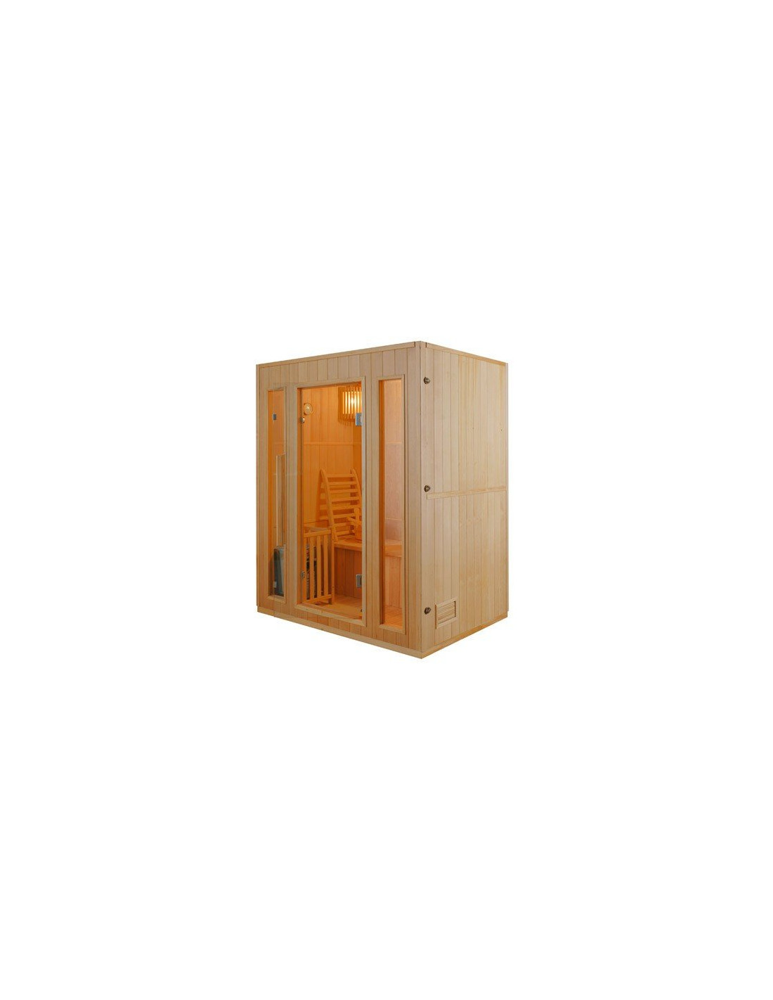 sauna vapeur zen france sauna 2 5 places. Black Bedroom Furniture Sets. Home Design Ideas