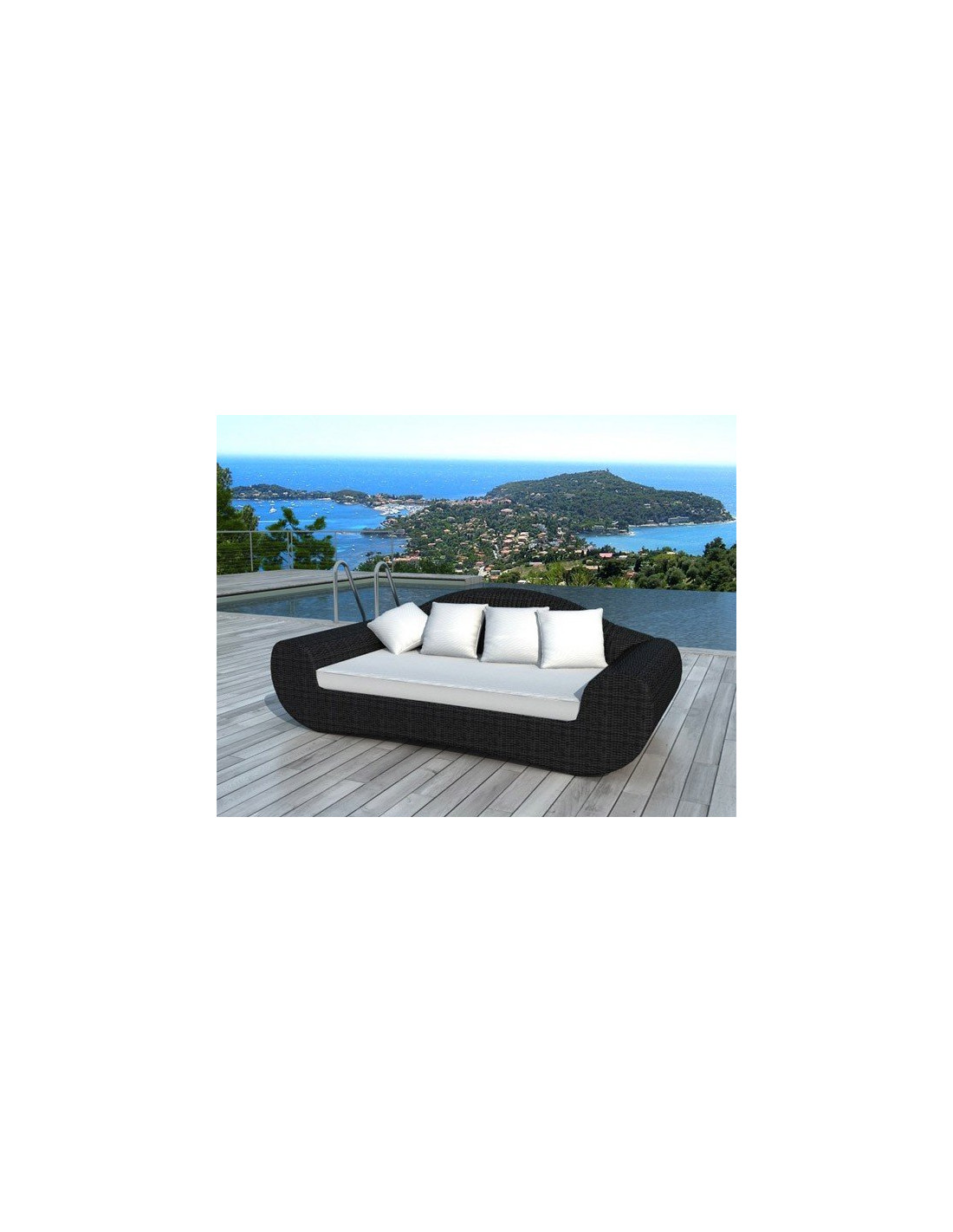canap de jardin en r sine tress e 3 places mod le bali. Black Bedroom Furniture Sets. Home Design Ideas