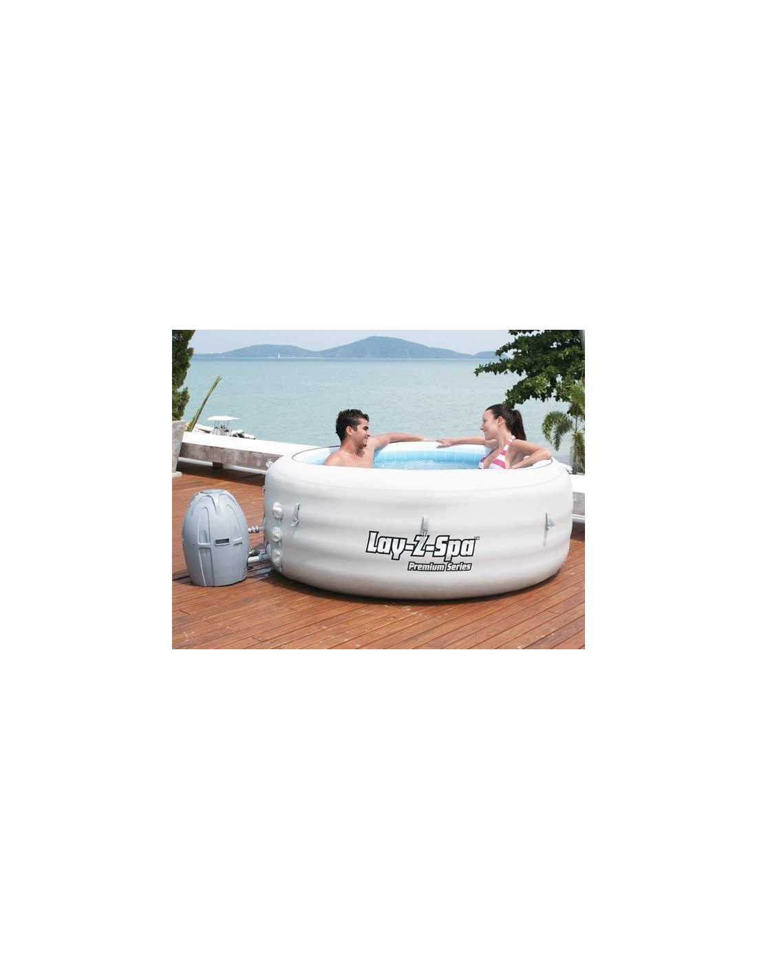Spa gonflable bestway vegas 4 places lay z bestway - Spa gonflable 4 places ...