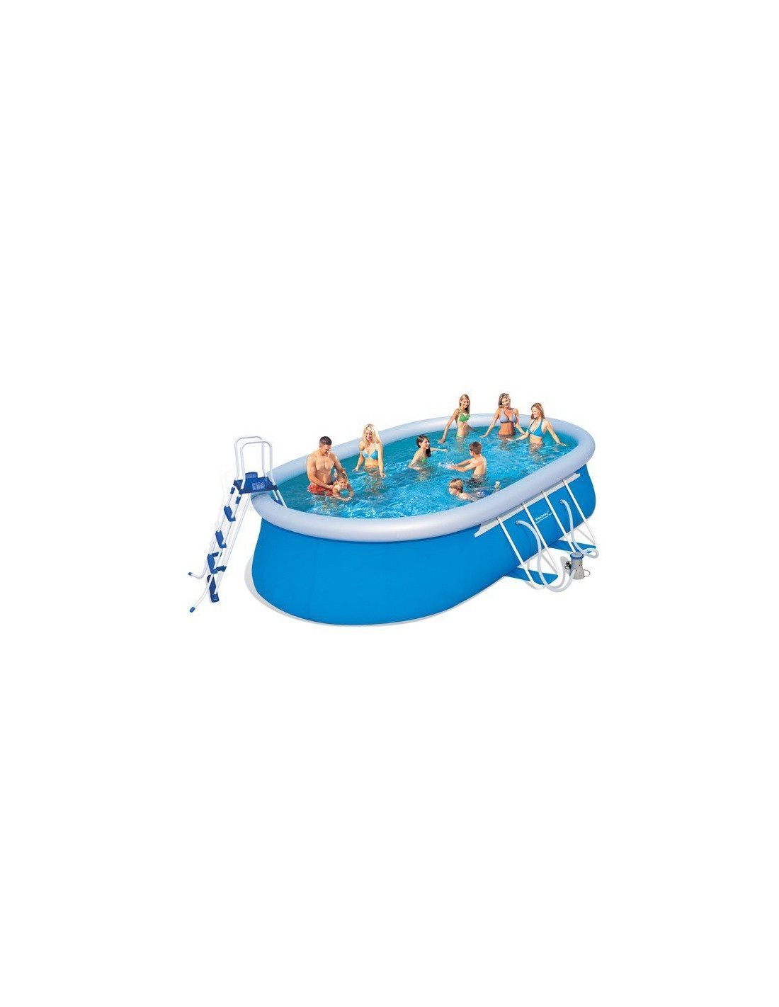 Piscine autoportante ovale bestway avec filtration cartouche for Piscine autoportante