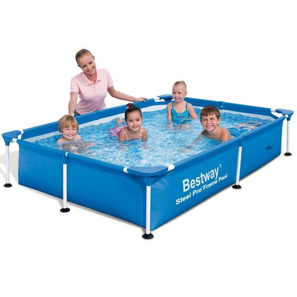 Piscine tubulaire rectangulaire bestway sans filtration ebay for Piscine bestway tubulaire