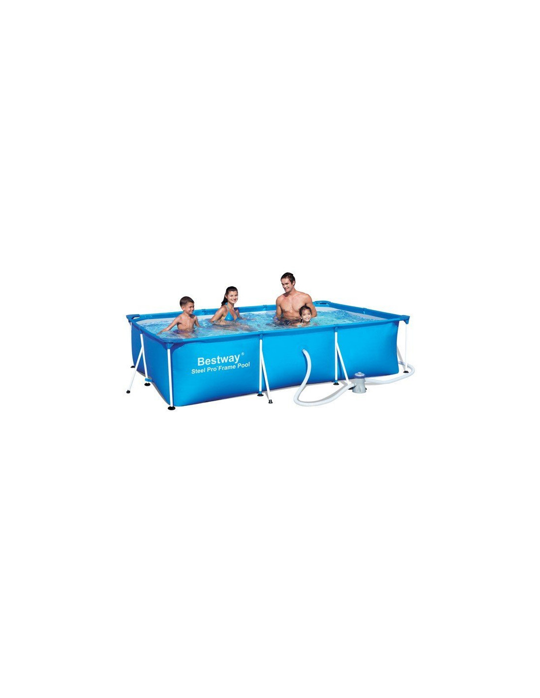 Piscine tubulaire rectangulaire splash bestway filtre for Cartouche filtre piscine hors sol