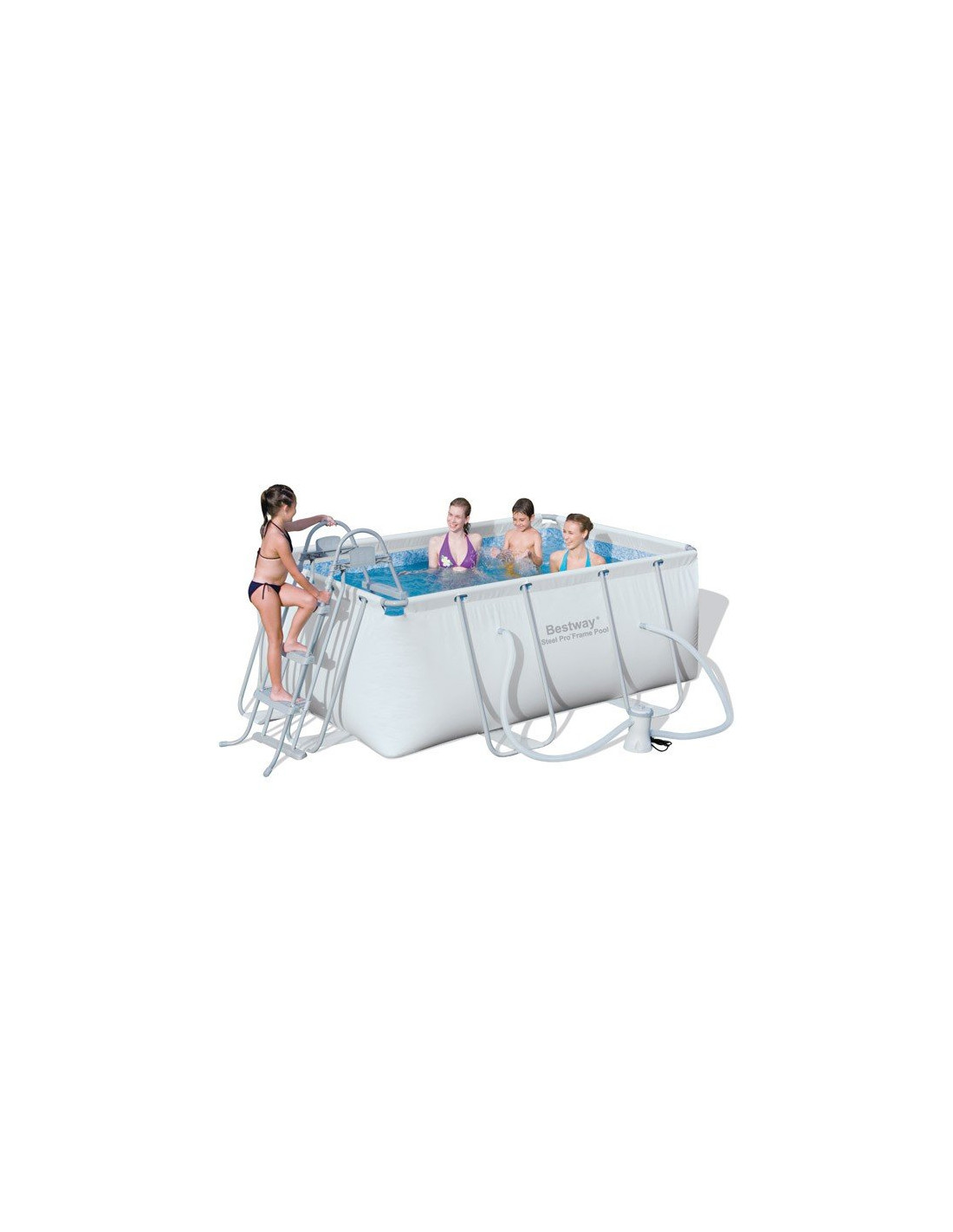 Piscine tubulaire rectangulaire bestway avec filtre for Pieces detachees piscine hors sol bestway