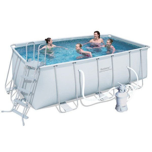 Piscine tubulaire rectangulaire bestway avec filtre sable for Occasion piscine hors sol