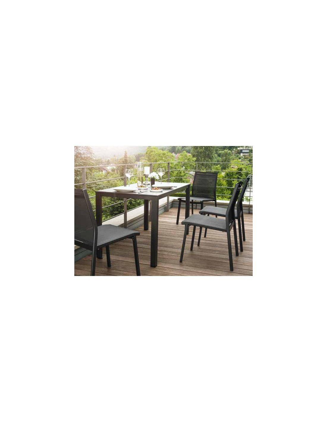 ensemble table et chaise de jardin balcon de kettler. Black Bedroom Furniture Sets. Home Design Ideas