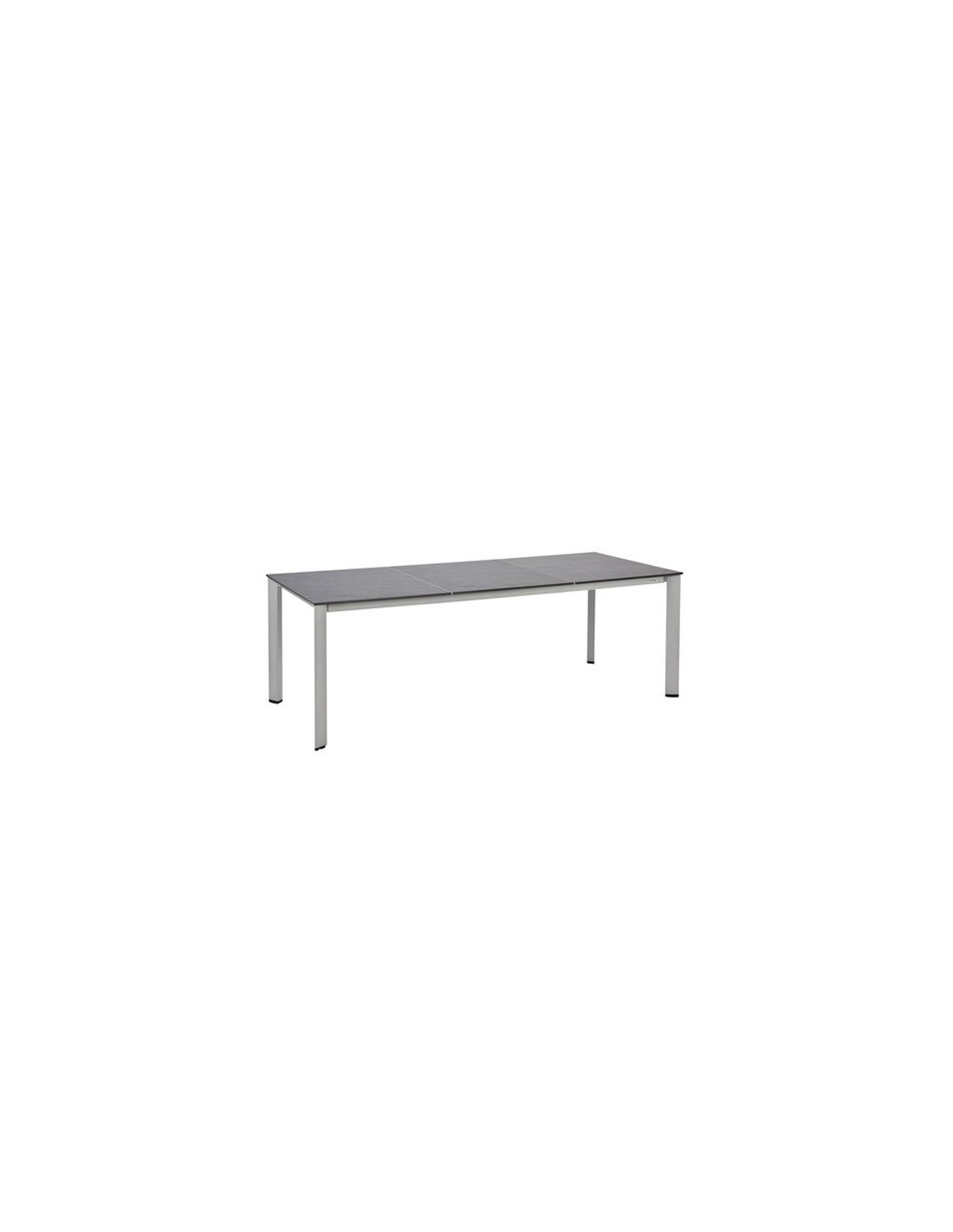 table de jardin aluminium r sine aspect ardoise mod le loft. Black Bedroom Furniture Sets. Home Design Ideas