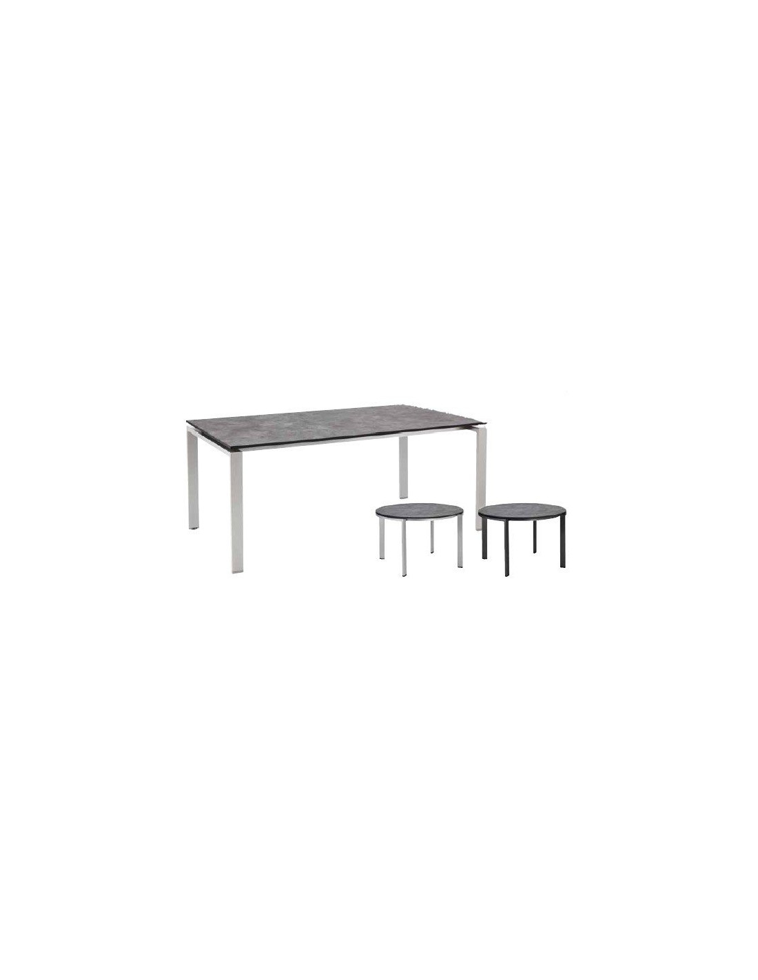 Table de jardin en beton bross de kettler for Table exterieur kettler