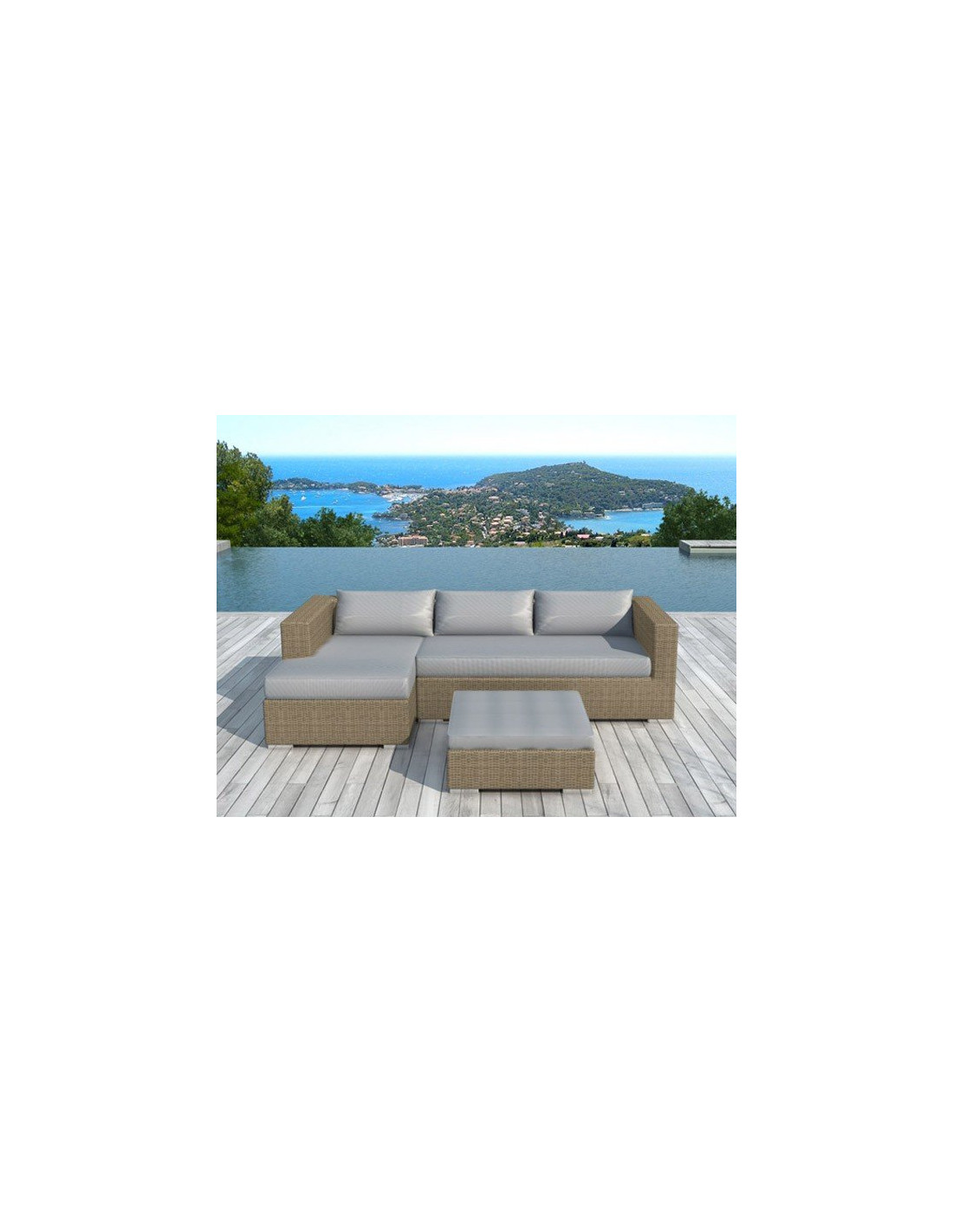Emejing salon de jardin tresse rond photos awesome for Chaise osier tresse