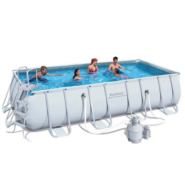 Piscine rectangulaire tubulaire bestway avec filtre for Piscine bestway tubulaire