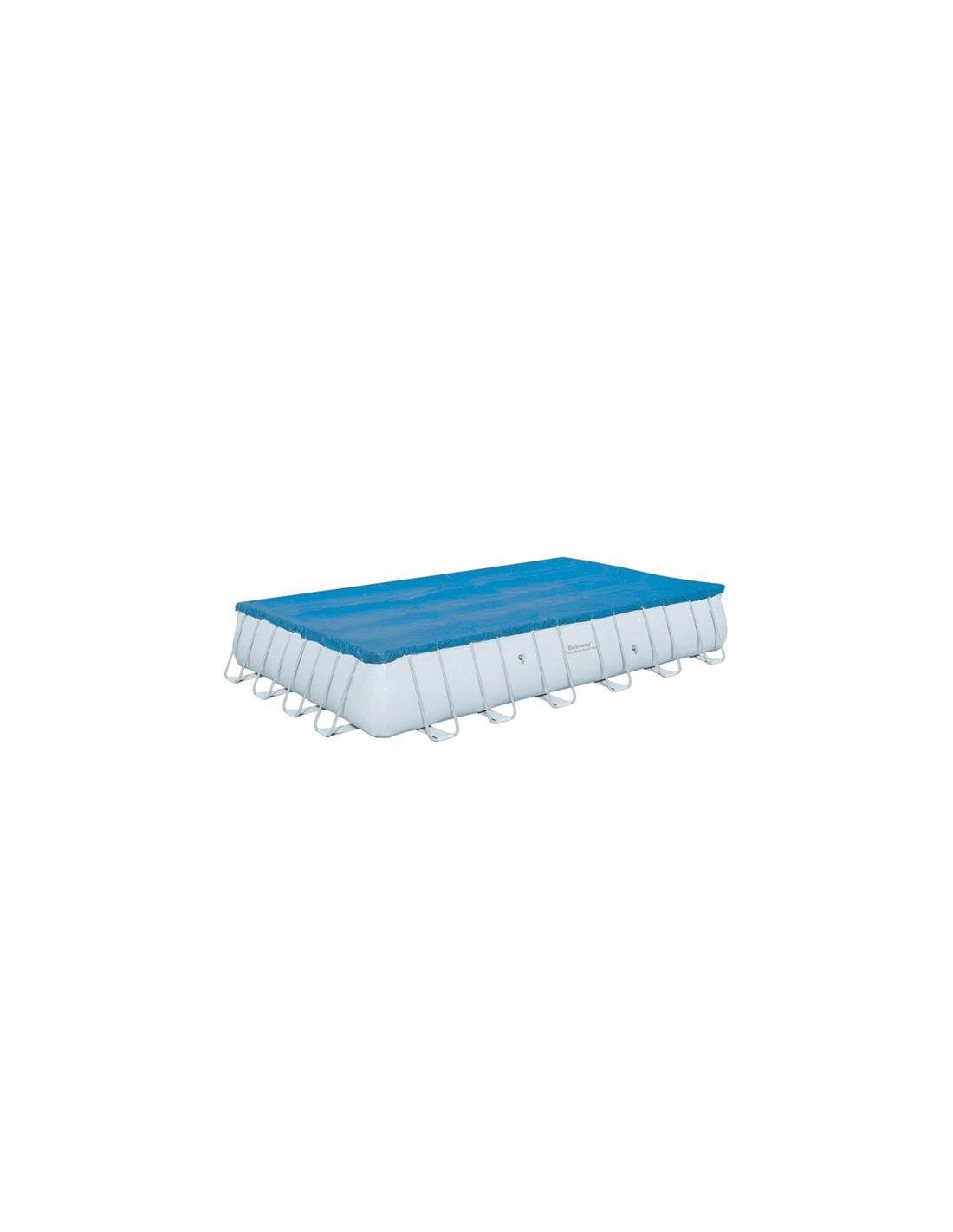 Piscine rectangulaire tubulaire bestway avec filtre sable for Piscine tubulaire rectangulaire