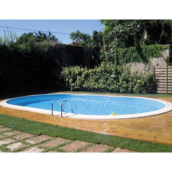 Kit piscine enterr e star pool l 5 8 10 x h 1 50 m gre pool - Piscine enterree en kit ...