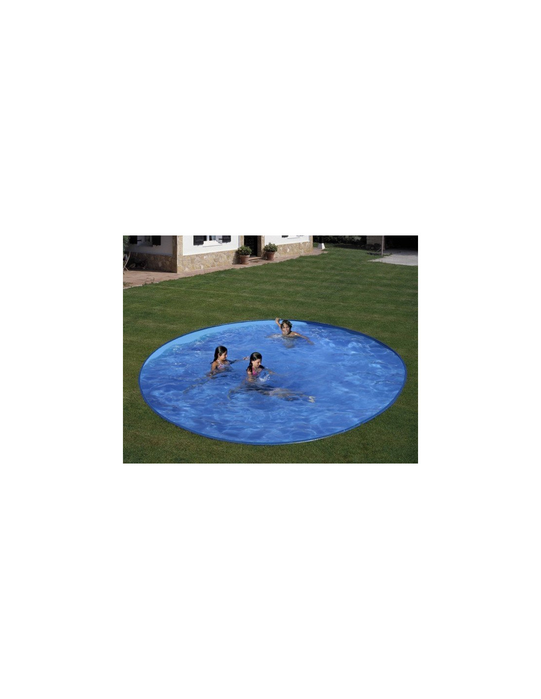 Piscine enterr e en kit star pool 4 20 3 50 cm x h 1 for Liner piscine 3 50 x 1 20