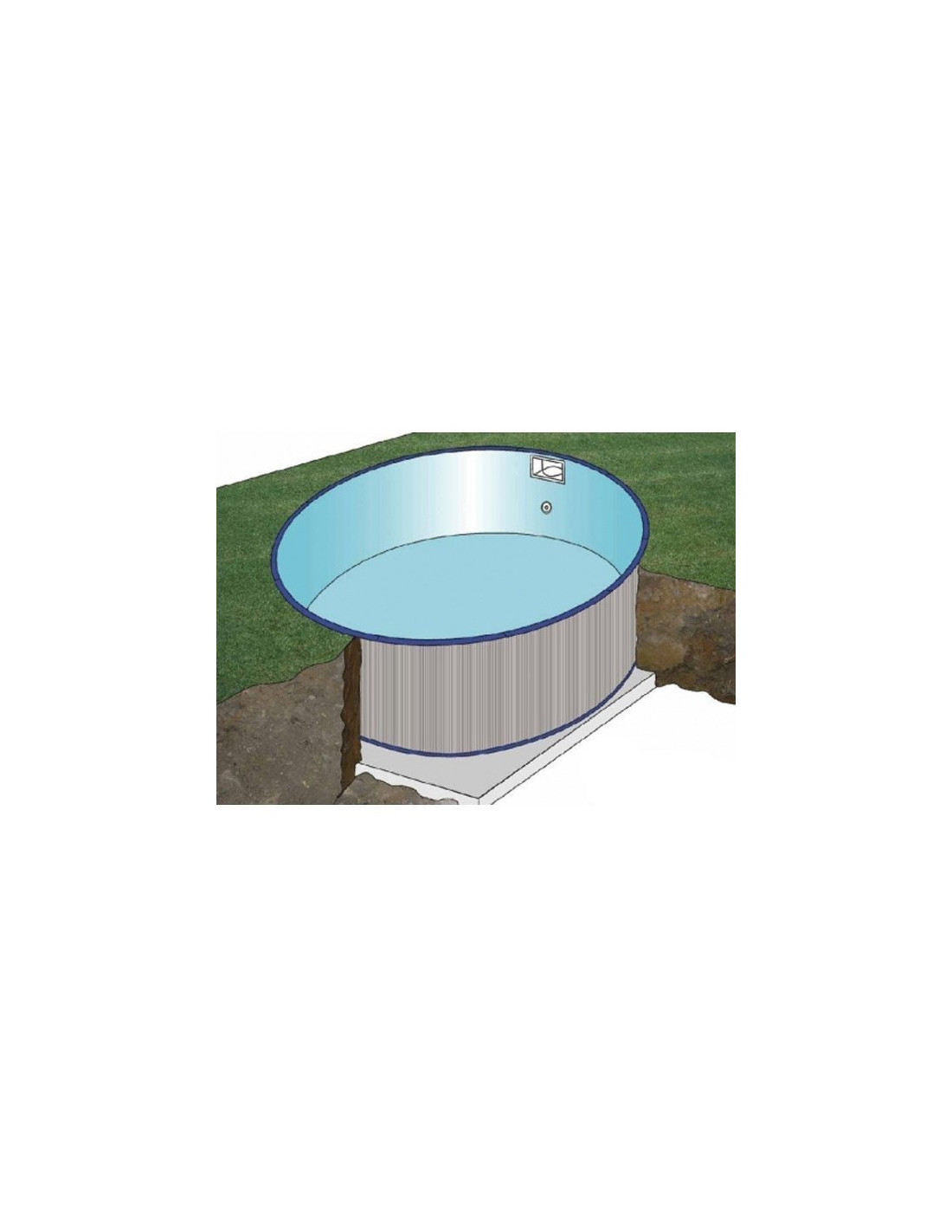 Kit piscine enterr e ronde star pool 4 60 3 50 cm x for Piscine enterree en kit