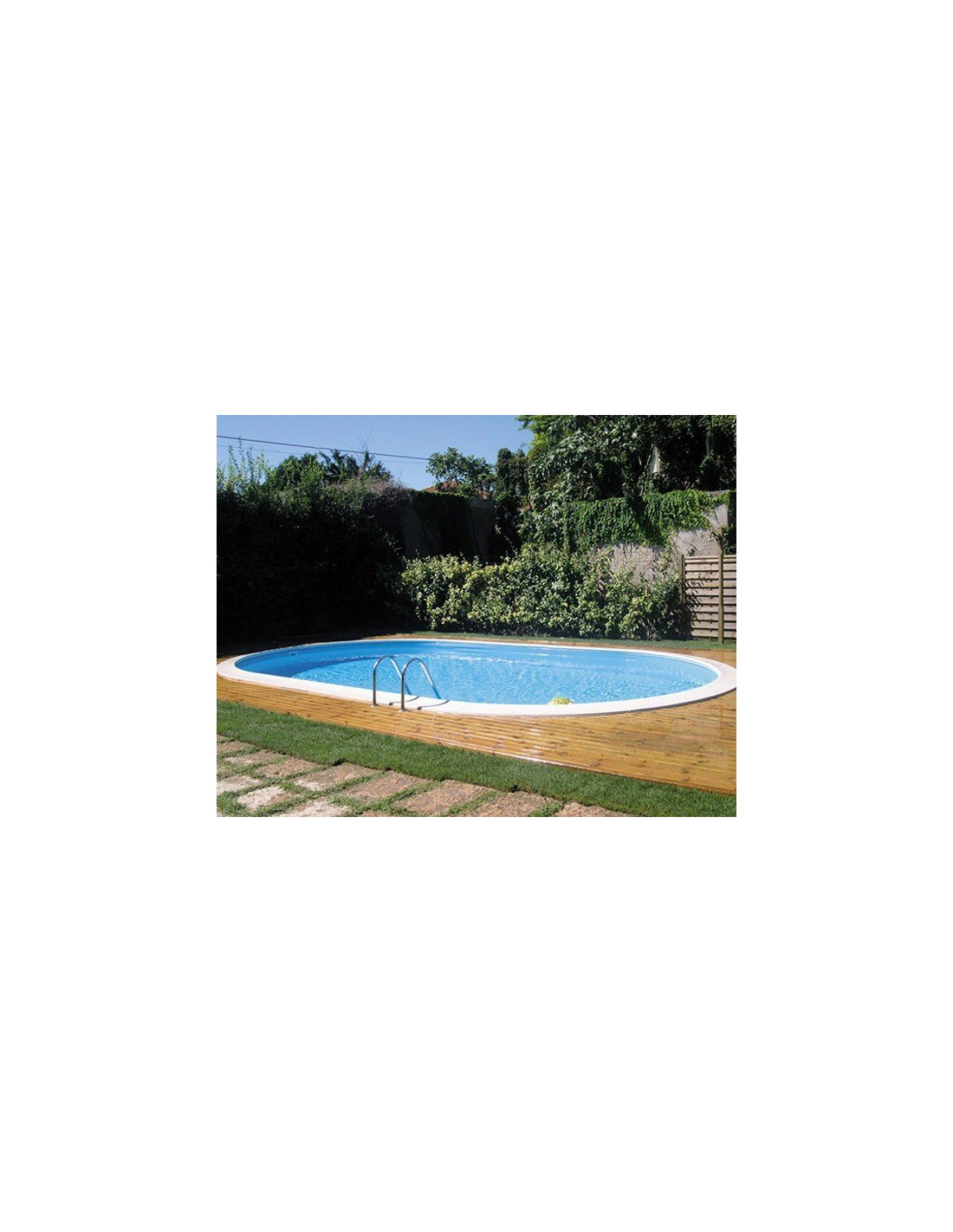 Kit piscine enterr e ovale star pool l 5 8 10 x h 1 50 for Kit piscine enterree