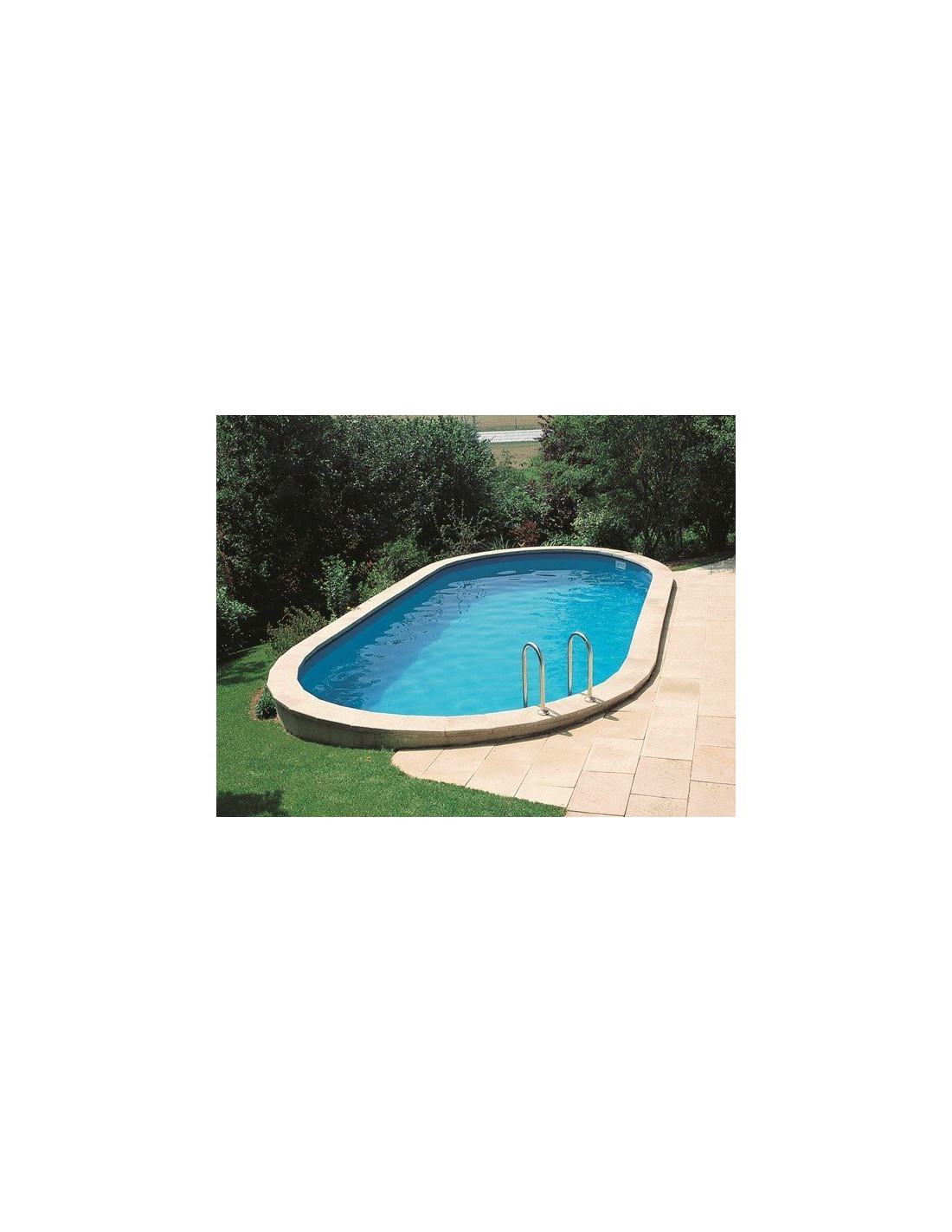 Kit piscine enterr e star pool l 5 8 10 x h 1 20 m for Kit piscine enterree