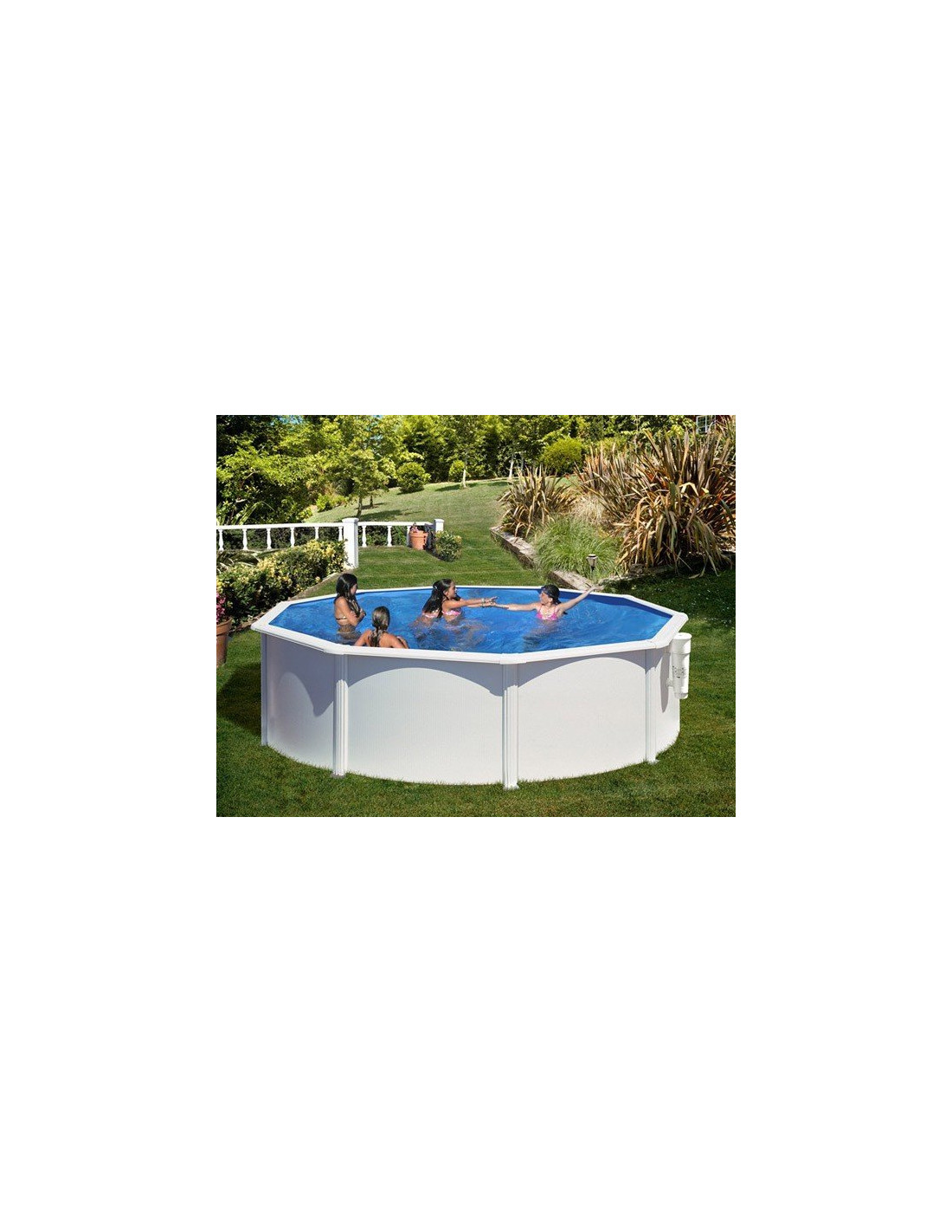 piscine acier ronde mod le azores. Black Bedroom Furniture Sets. Home Design Ideas