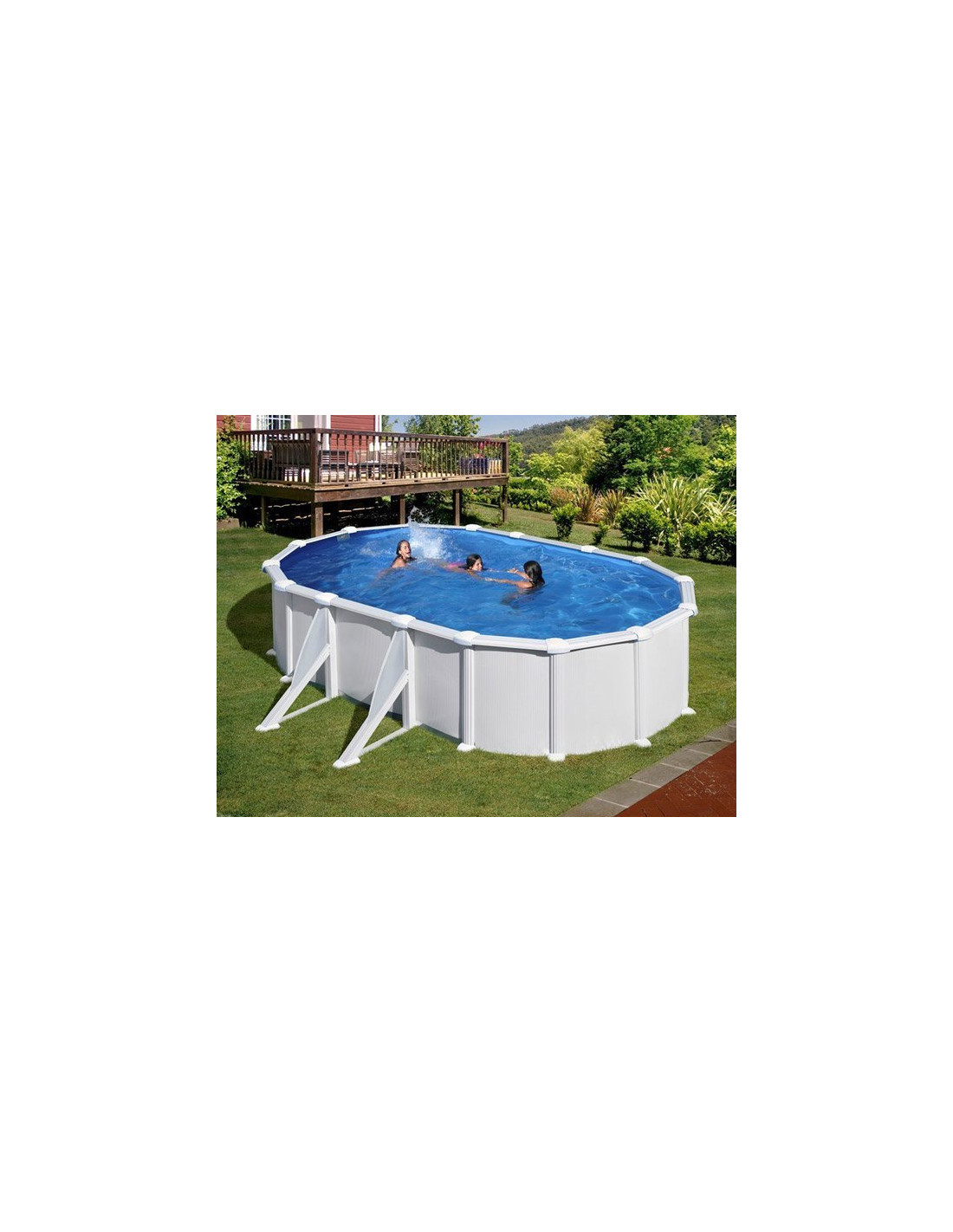 Piscine acier ovale atlantis avec renforts for Atlantis piscine