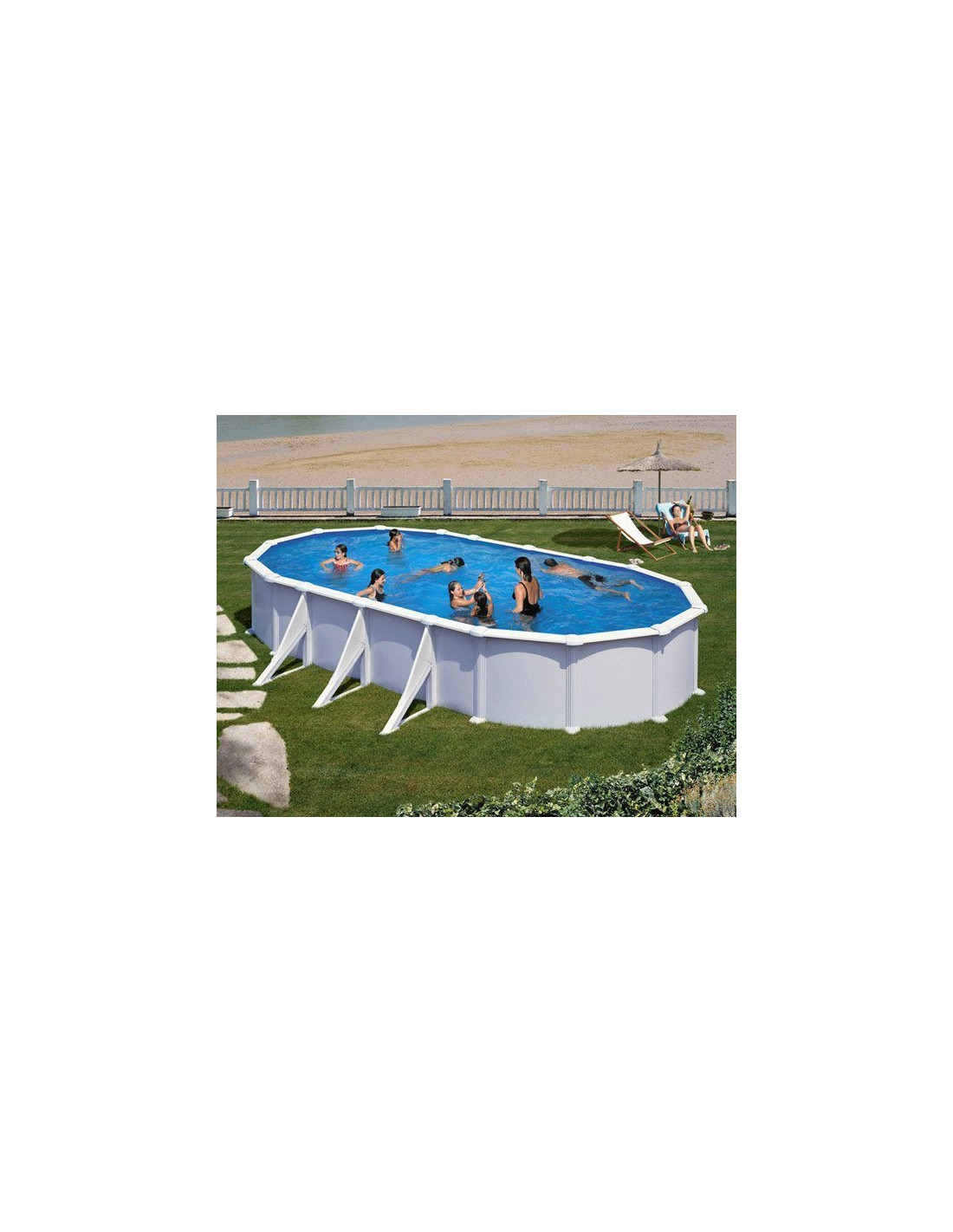 piscine acier ovale atlantis avec renforts. Black Bedroom Furniture Sets. Home Design Ideas