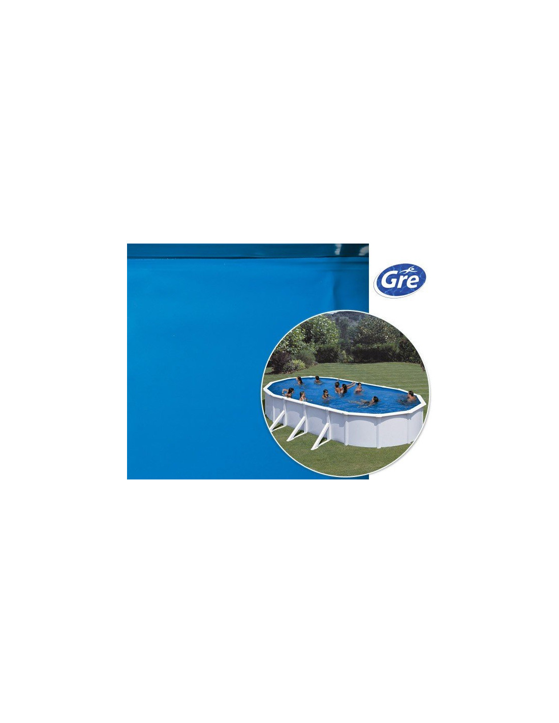 Liner piscine hors sol ovale gre pool coloris bleu for Liner piscine