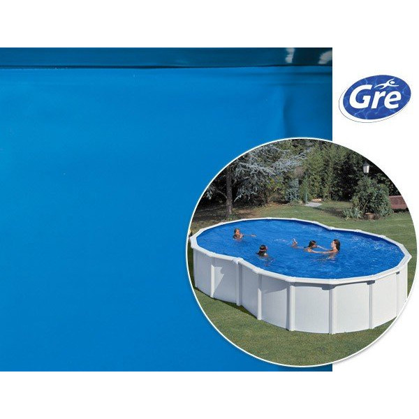 Liner piscine hors sol en huit gre pool coloris bleu for Liner piscina gre