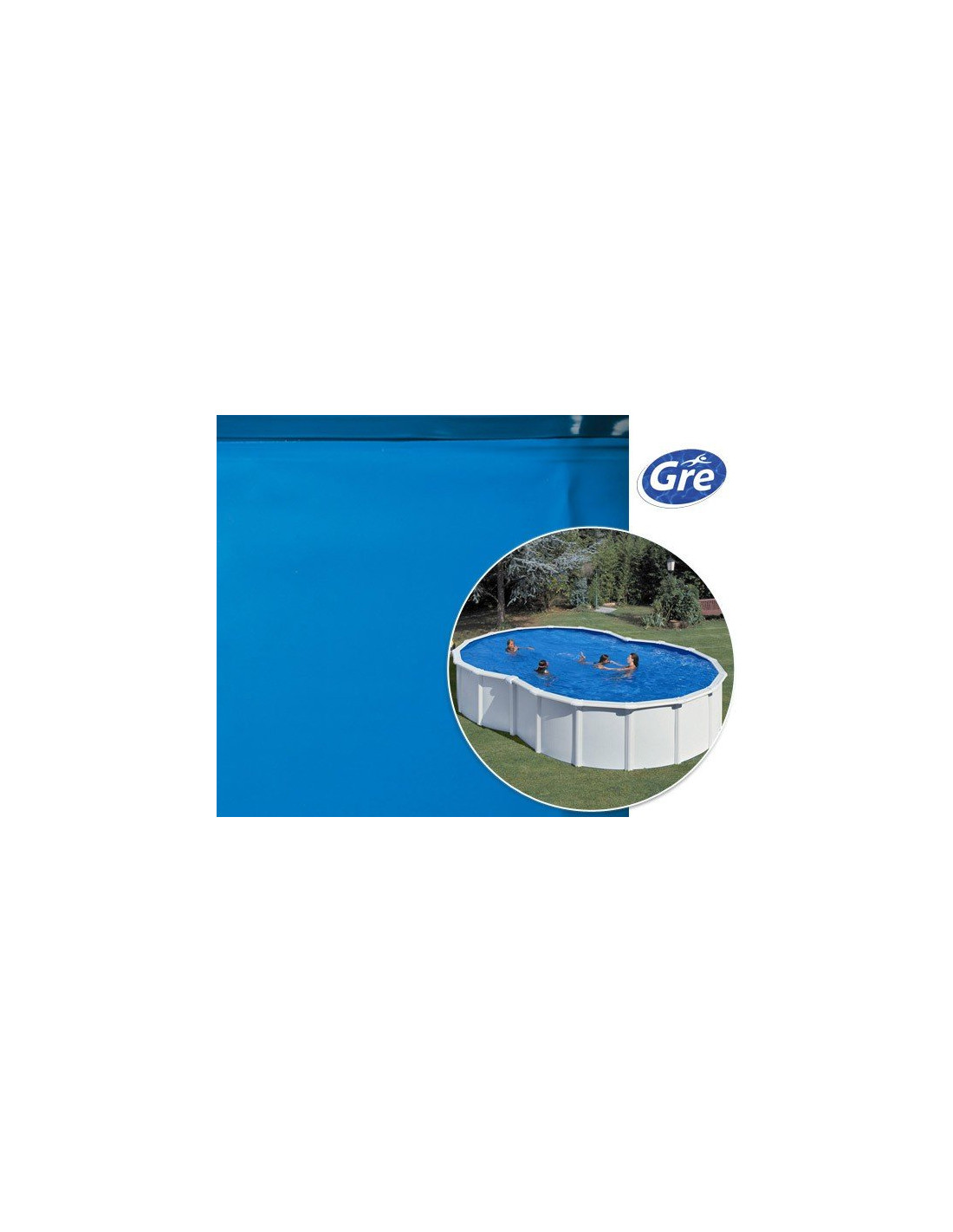 Liner piscine hors sol en huit gre pool coloris bleu for Commander liner piscine