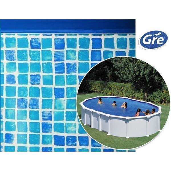 Liner piscine hors sol ovale gre pool coloris mosa que for Commander liner piscine