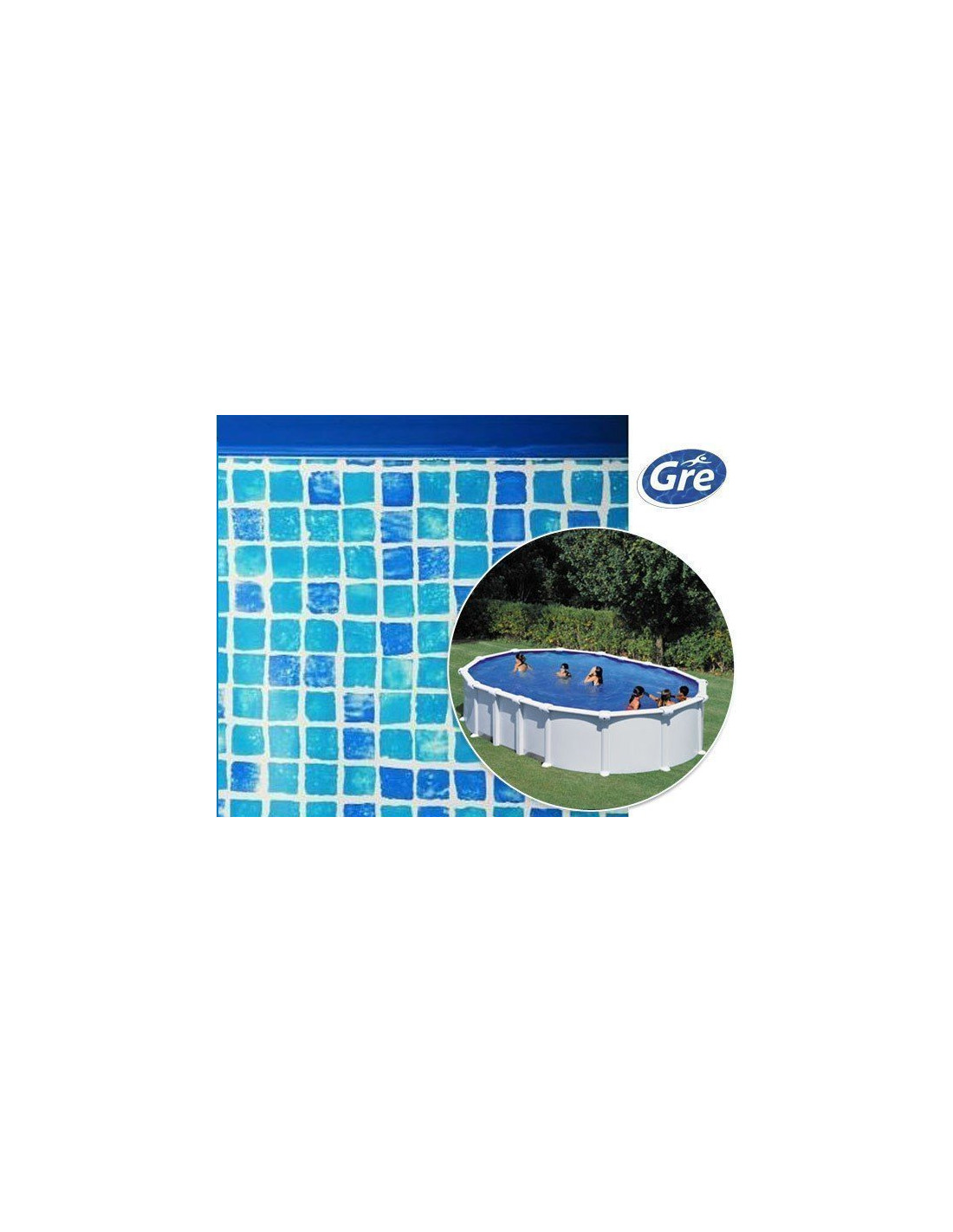 liner piscine hors sol ovale gre pool coloris mosa que