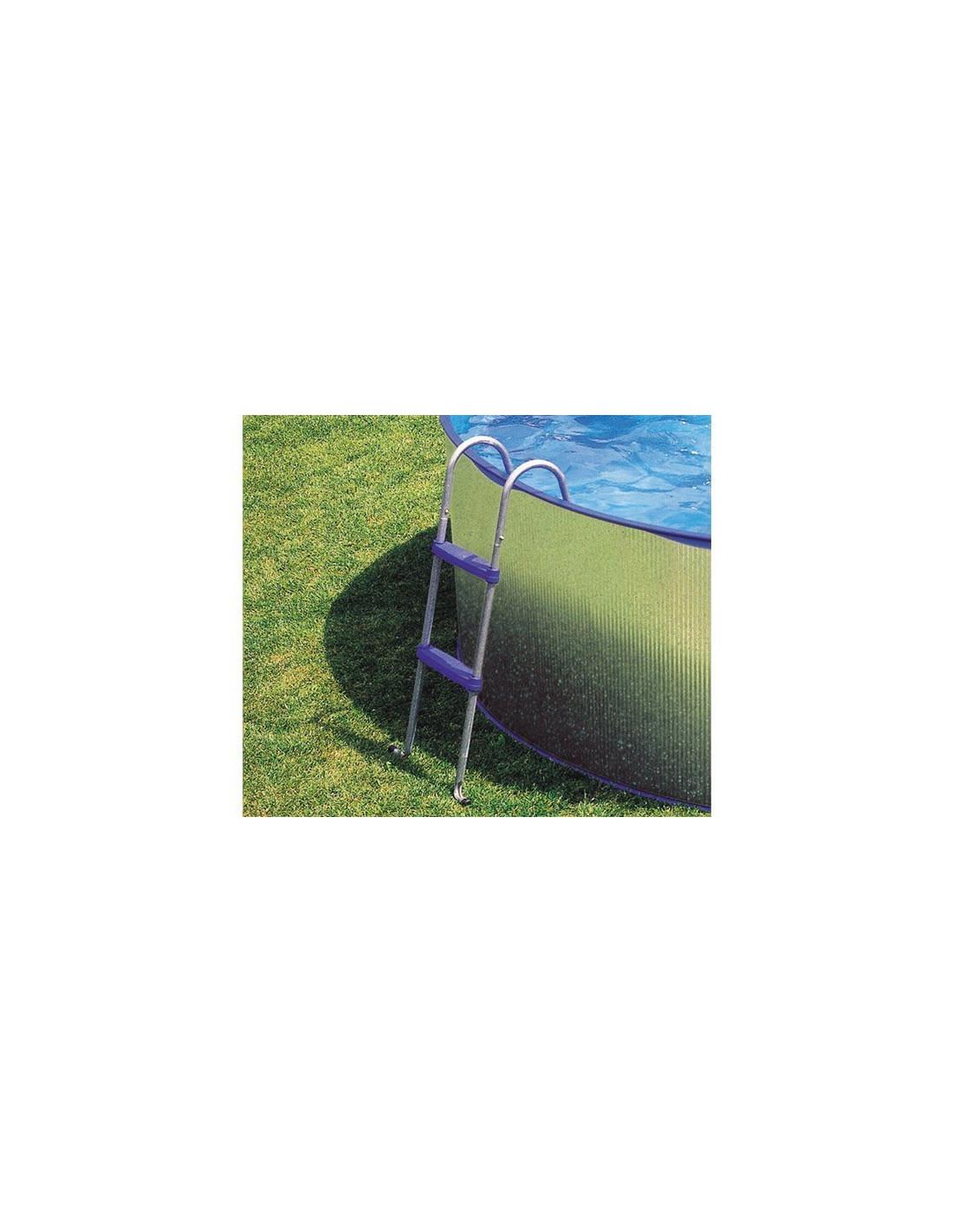 Echelle pour piscine hors sol 2 x 2 marches hauteur 90 cm for Pieces detachees echelle piscine hors sol