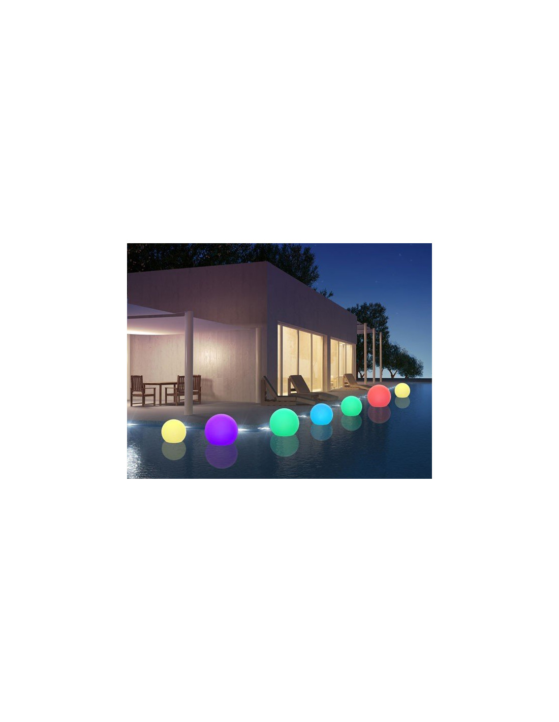 Boule Lumineuse Piscine Led Multicolore Sur Batterie